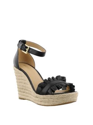 MICHAEL KORS: sandali online - Zeppe Bella inserto arricciato
