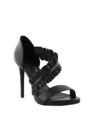 MICHAEL KORS: sandali online - Sandali alti Bella inserto in nappa