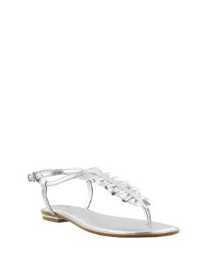 MICHAEL KORS: sandali online - Sandali Bella in pelle argento