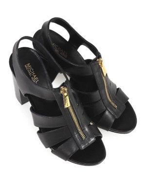 MICHAEL KORS: sandali online - Sandali Damita in pelle con tacco