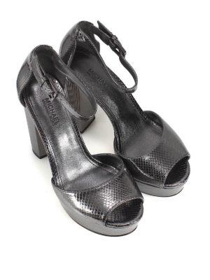MICHAEL KORS: sandali online - Sandali Paloma pelle stampa rettile