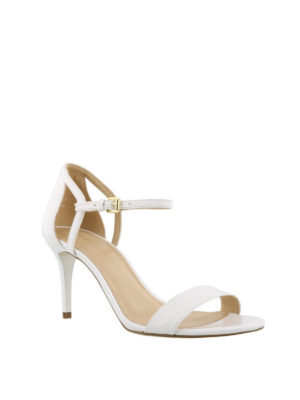 MICHAEL KORS: sandali online - Sandali bianchi Simone in pelle