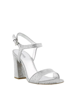 MICHAEL KORS: sandali online - Sandali Tori argento con glitter
