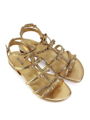 MICHAEL KORS: sandali online - Sandali piatti Veronica dorati