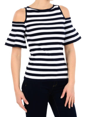 MICHAEL KORS: Top e canotte online - Top cut out in jersey a righe