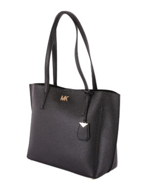 MICHAEL KORS: shopper online - Borsa shopper Ana in pelle a grana nera