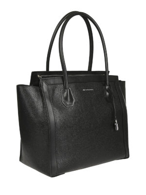 MICHAEL KORS: shopper online - Borsa Mercer Studio L in pelle nera