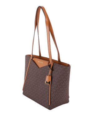 MICHAEL KORS: shopper online - Borsa shopper Whitney piccola marrone