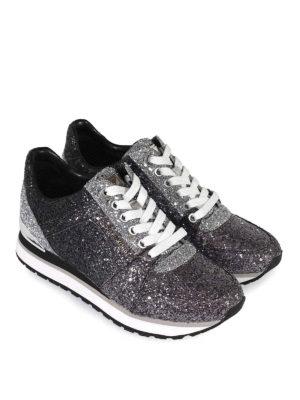 MICHAEL KORS: sneakers online - Sneaker da running Billie in pelle glitterata