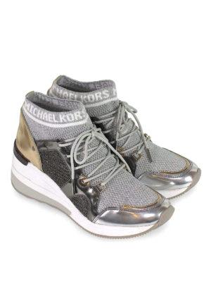 MICHAEL KORS: sneakers online - Sneaker Hilda in maglia di lurex e vernice