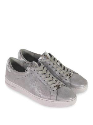 MICHAEL KORS: sneakers online - Sneaker Irving in nabuk e inserti specchiati