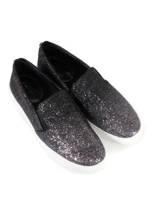 MICHAEL KORS: sneakers online - Sneaker slip on in pelle glitterata Keaton