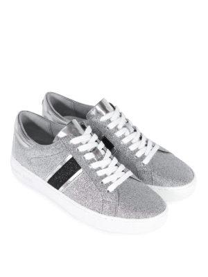 MICHAEL KORS: sneakers online - Sneaker in pelle glitterata Keaton Stripe
