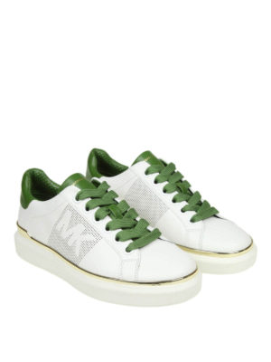 MICHAEL KORS: sneakers online - Sneaker Max in pelle bianca e verde