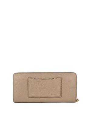 MICHAEL KORS: portafogli online - Portafoglio continental in pelle a grana rosa
