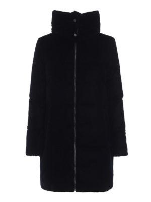 MICHAEL KORS: cappotti imbottiti - Piumino in velluto con cappuccio staccabile