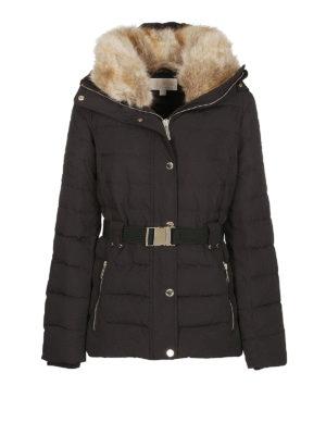 MICHAEL KORS: giacche imbottite - Piumino con cappuccio e collo di pelliccia