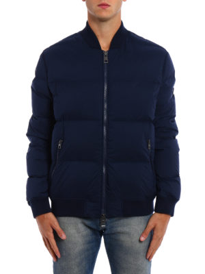 Michael Kors: padded jackets online - Stretch nylon padded bomber jacket
