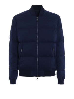 Michael Kors: padded jackets - Stretch nylon padded bomber jacket