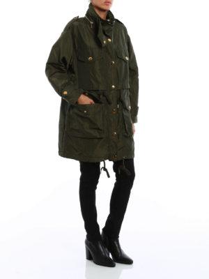 Michael Kors: parkas online - Detachable vest military parka