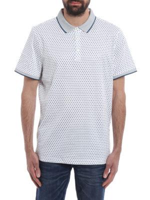 Michael Kors: polo shirts online - Spring printed cotton polo shirt