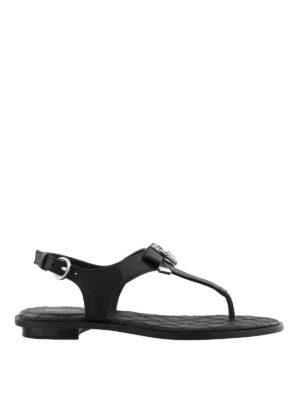 MICHAEL KORS: sandali - Sandali Alice in nappa nera