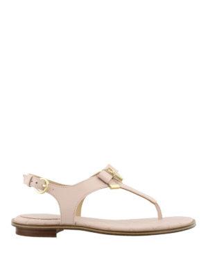 MICHAEL KORS: sandali - Sandali rosa Alice in nappa