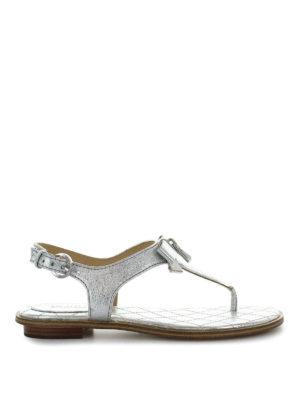 MICHAEL KORS: sandali - Sandali argento Alice in nappa