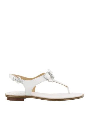 MICHAEL KORS: sandali - Sandali bianchi Alice in nappa