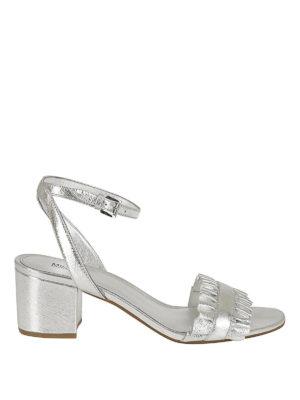 MICHAEL KORS: sandali - Sandali Bella Flex Mid argento