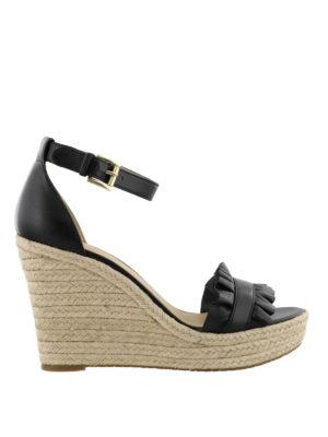 MICHAEL KORS: sandali - Zeppe Bella inserto arricciato
