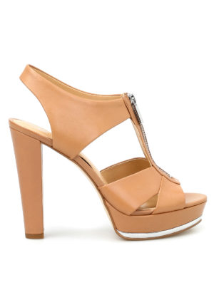 Michael Kors: sandals - Bishop leather platform sandals