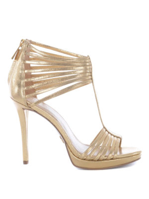 Michael Kors: sandals - Cage design gold-tone sandals