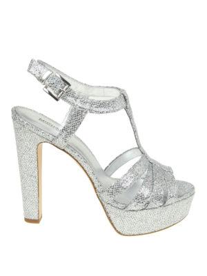 Michael Kors: sandals - Catalina glitter mesh sandals