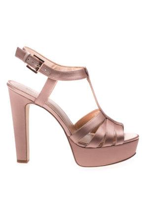 Michael Kors: sandals - Catalina satin high heel sandals
