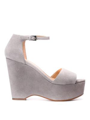 Michael Kors: sandals - Claire wedge suede sandals