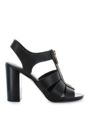 MICHAEL KORS: sandali - Sandali Damita in pelle con tacco