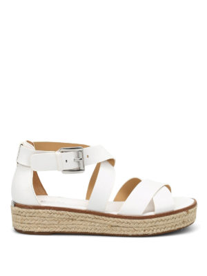 Michael Kors: sandals - Darby wedge leather sandals