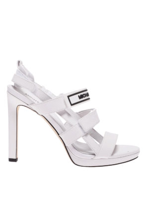 f1420a23427 MICHAEL KORS  sandali - Sandali Demi in pelle bianca con tacco