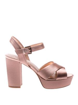 Michael Kors: sandals - Divia satin platform sandals