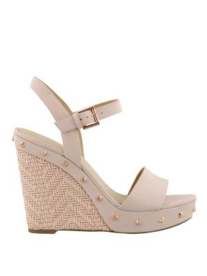 MICHAEL KORS: sandali - Sandali Ellen in vacchetta rosa