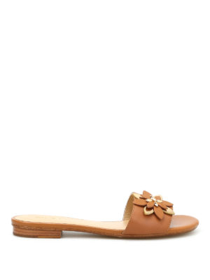 Michael Kors: sandals - Heidi leather slippers