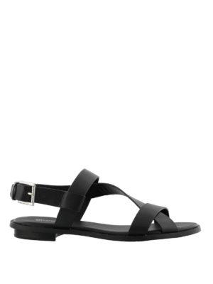 MICHAEL KORS: sandali - Sandali Mackay in vacchetta nera