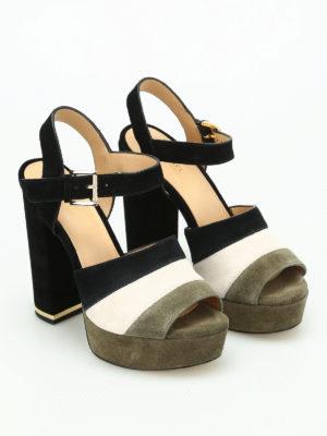 Michael Kors: sandals online - Anise platform suede sandals