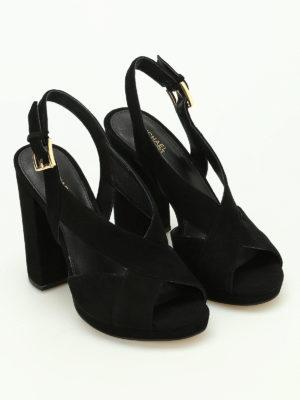 Michael Kors: sandals online - Becky platform suede sandals