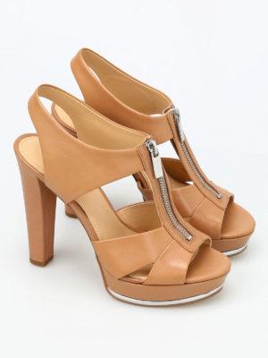 Michael Kors: sandals online - Bishop leather platform sandals