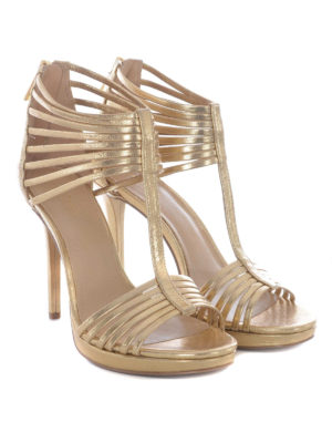Michael Kors: sandals online - Cage design gold-tone sandals