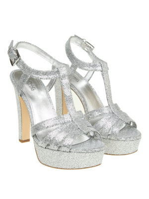 Michael Kors: sandals online - Catalina glitter mesh sandals