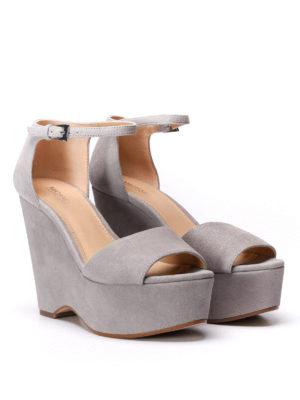 Michael Kors: sandals online - Claire wedge suede sandals