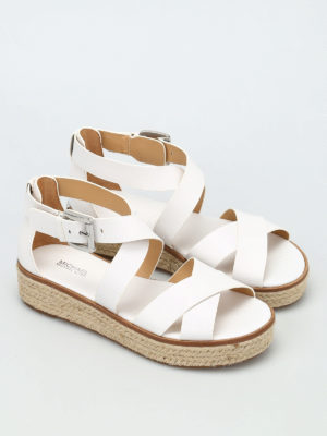 Michael Kors: sandals online - Darby wedge leather sandals